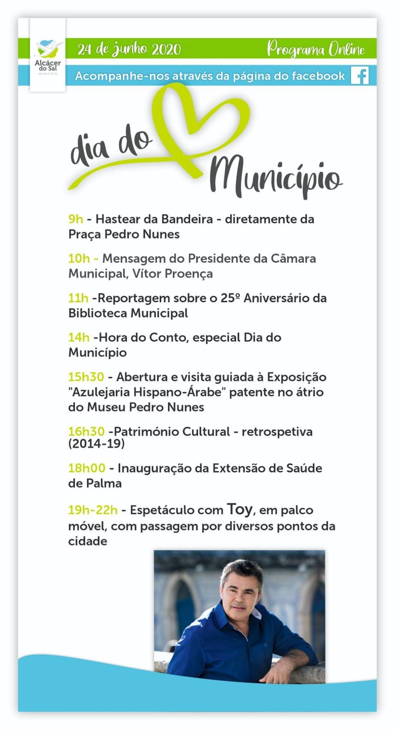 DIA DO MUNICIPIO programa 2020